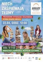 Zaśpiewaj Światowy Hymn Książki wArkadach Wrocławskich