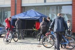 Pasaż Grunwaldzki: startuje akcja znakowania rowerów