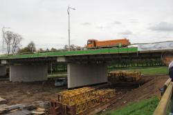Testowanie mostu nad Kaczawą