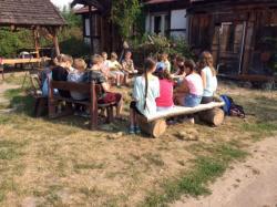 Wizyta uczniów wMuzeum Skansenie Rolnym Golinowskich