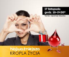 Zbiórka krwi wCentrum Korona