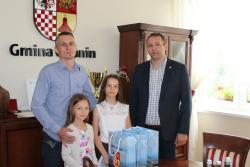 Nagrody Wójta Gminy Udanin za najlepsze wyniki wnauce rozdane