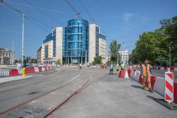 Ruch tramwajowy wraca na pl. Orląt Lwowskich - koniec objazdów