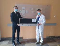 Szpital wOławie otrzymał odwrocławskiej firmy nowoczesny zestaw dointubacji