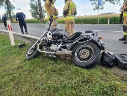 Zderzenie motocykla zciężarówką